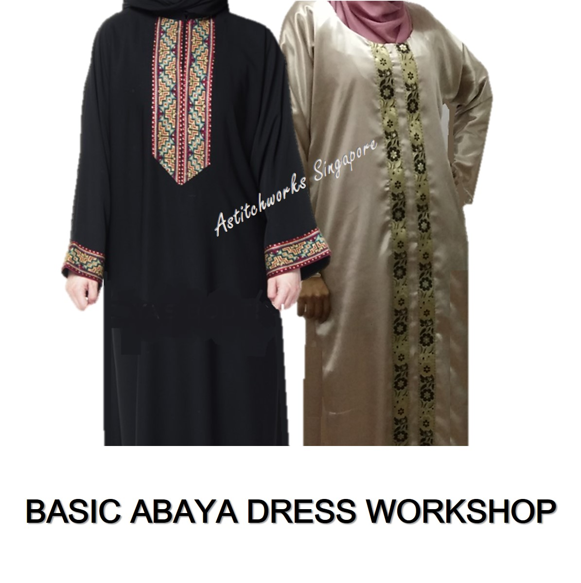 Sew Basic Abaya Dress