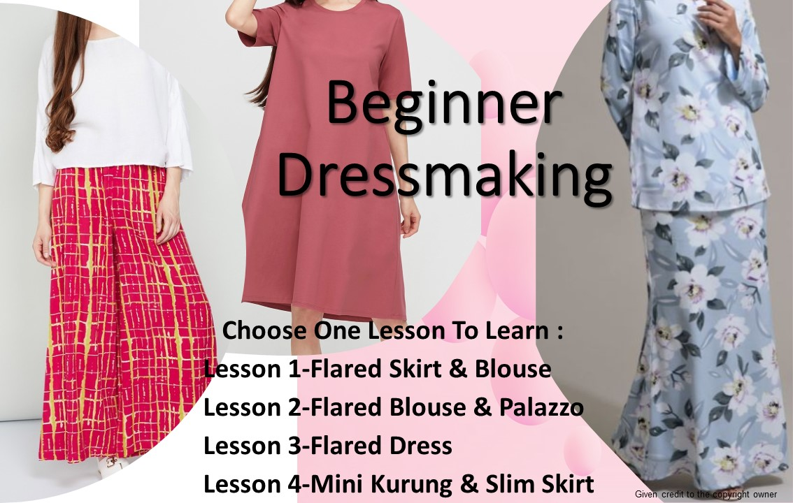 Beginner: Pattern & Sewing Technique Dressmaking