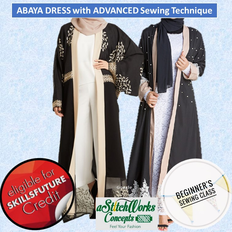 Abaya Dress with Advanced Sewing Technique - CRS-N-0046079