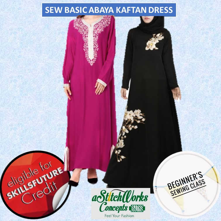 Sew Basic Abaya Kaftan Dress - CRS-N-0046717