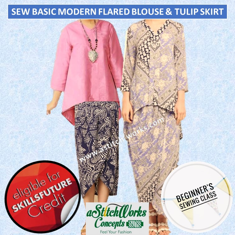 Sew Basic Modern Flared Blouse & Tulip Skirt - CRS-N-0046080