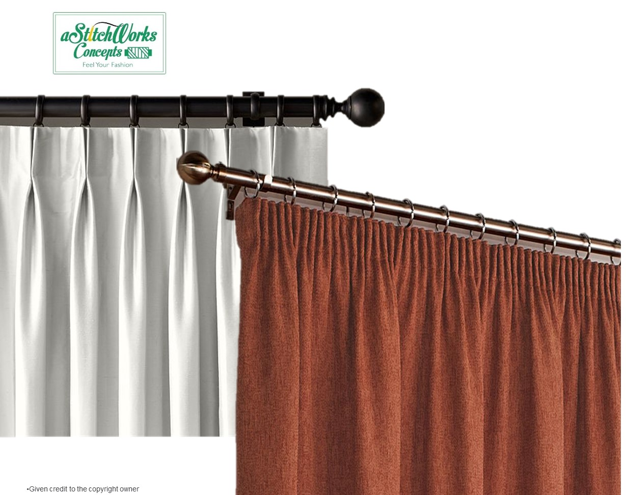 Sew Doubt Pleats and Pencil Pleats Curtains